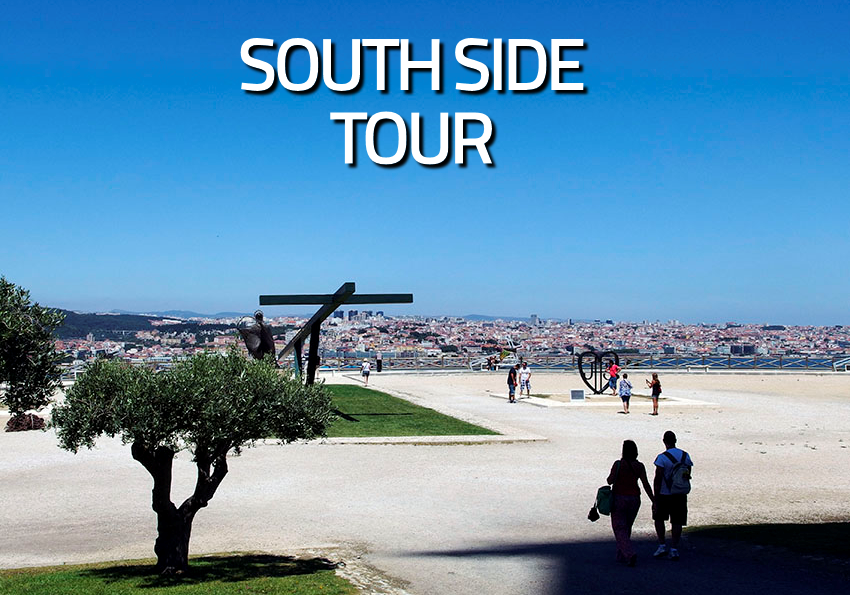 Enjoy the fantastic experience of crossing Lisbon's famous bridge (Ponte 25 de Abril) to the south side on aboard a tuk tuk and visit the National Santuary of Cristo Rei.  <br><br><b>CIRCUIT:</b> Lisboa-Cristo Rei (Almada) <br><b>TIME:</b> 1:30 Hours <br><b>PRICE PER TOUR:</b>  80€*/95€** <br>* 1 - 2 passengers  <br>** 3 - 6 passengers